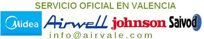 Servicio tecnico oficial Airwell, Johnson, Saivod y Ansonic Valencia